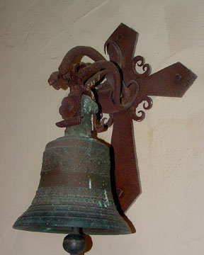 Mission Santa Inez bell w snakes holding sm
