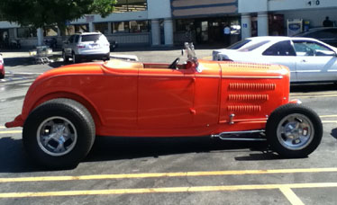 Orange roadster side