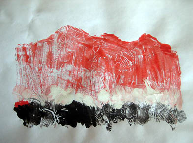 Red and black mountains