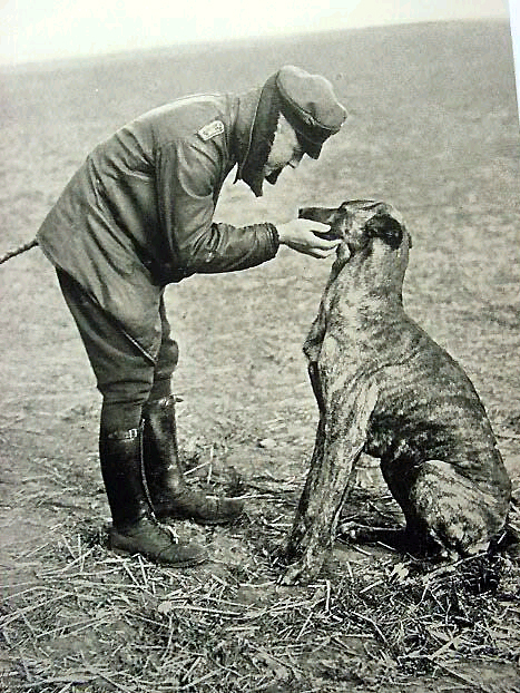 Baron Von Richtofen w his dog