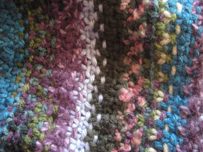 Linen stitch scarf close up 1-12